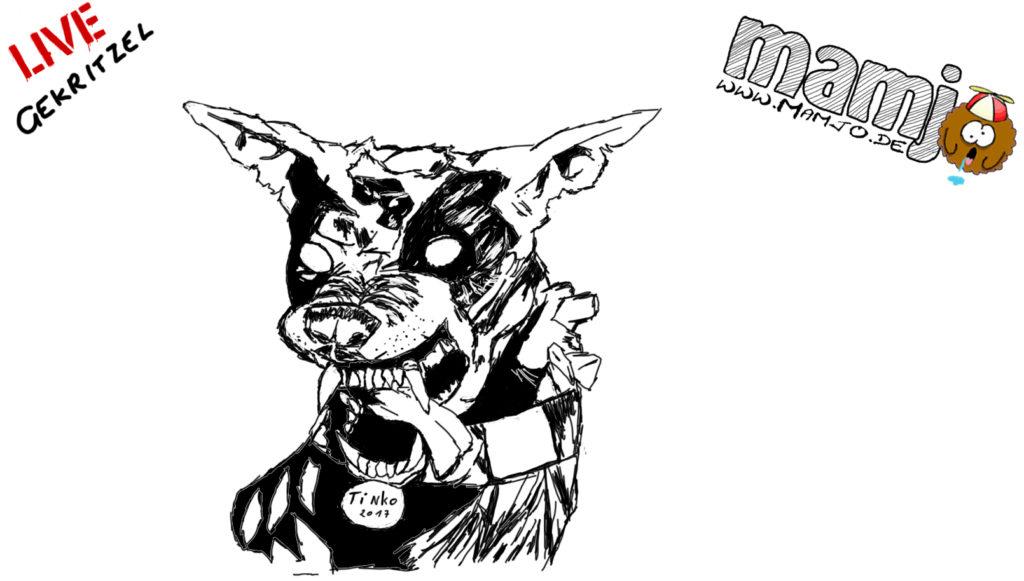 Zombie Hund zeichnung skizze malen draw paint zeichnung zeichnen