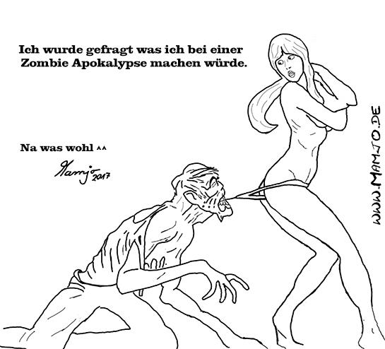 Ich wurde gefragt was ich bei einer Zombie Apokalypse machen würde.