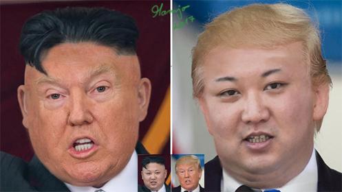 Wenn Politiker sich annähern Kim Jong-un und Donald Trump
