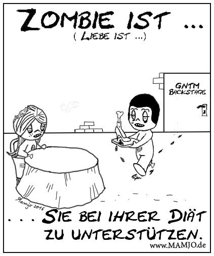 Zombie ist . . . ihr in schwierigen zeiten die hand zu halten wenn sie es nötig hat